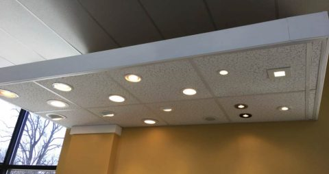 Recessed lighting upgrades.