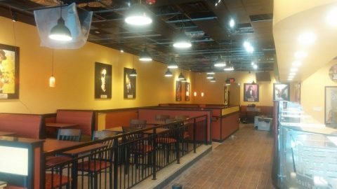 Commercial electrical work at Moe's Southwest Grill