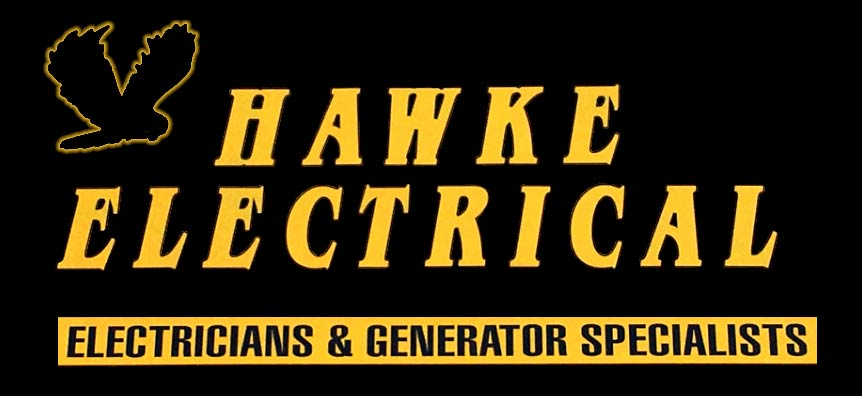 Hawke Electrical Logo with black background